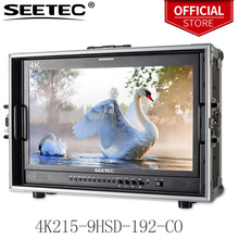 Seetec Monitor de transmisión de 21,5 pulgadas IPS, Full HD, 1920x1080, con 3G SDI, HDMI, AV, YPbPr, Maleta de dirección, 4K215 9HSD 192 CO