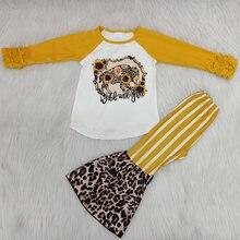 Осенне зимняя одежда для маленьких девочек комплект одежды футболка