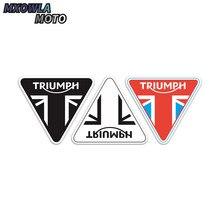 цена на For Triumph helmet motorcycle moto bike Sticker Decal Carbon fiber sticker car sticker