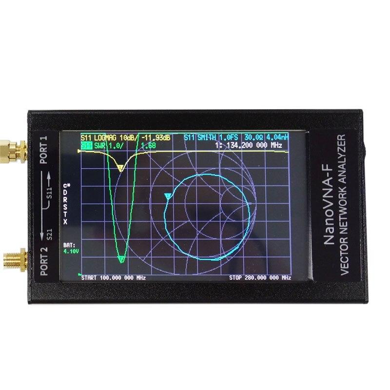 Nanovna-f analyseur de réseau vectoriel HF VHF analyseur d'antenne UHF compteur d'ondes debout à ondes courtes