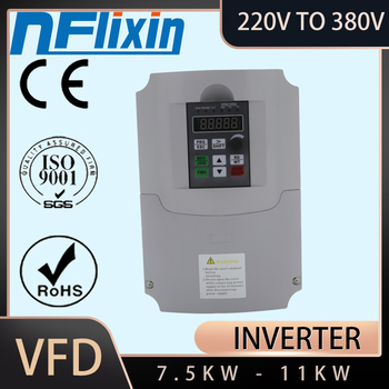 2020 promotion 7.5kw 11KW Frequency VFD 220V to 380V Inverter 400HZ speed Drive for CNC image