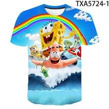 2020 novo menino dos desenhos animados e menina camiseta verão impressão crianças de manga curta camiseta de algodão puro crianças roupas de moda menino topo t-s