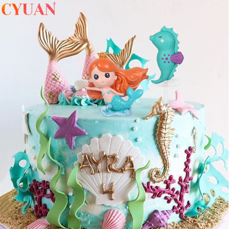 Astonishing Mermaid Birthday Party Decorations Fishtail Shell Starfish Personalised Birthday Cards Akebfashionlily Jamesorg