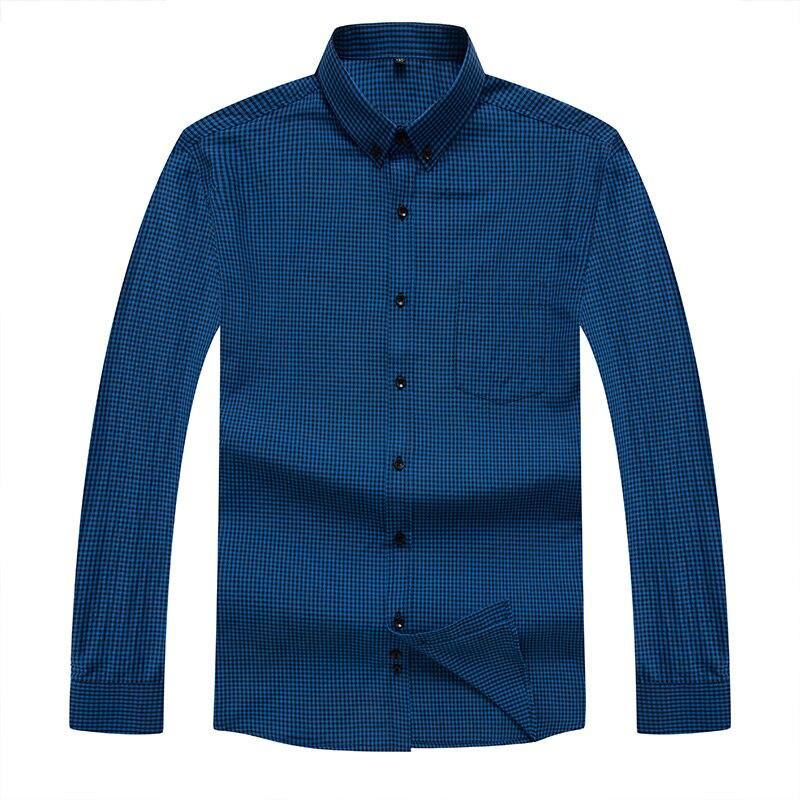 10XL 9XL Plus Size Men's Oxford Wash And Wear Plaid Shirts Cotton Casual Shirts High Quality Fashion Design Men's Dress Shirts