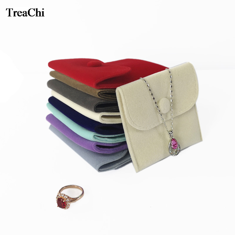 Cute Velvet Jewelry Storage Pouch Colorful Bracelet Ring Hand Bag Mini Bead Necklace Jewelry Organizer Gift Bag 10*10cm /8*8cm