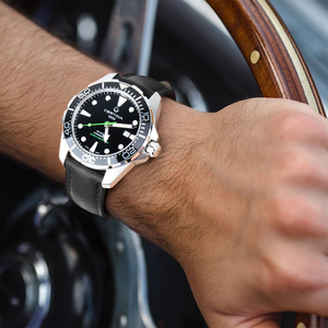 Image 5 - MAIKES אמיתי עור שעון רצועת 20mm 22mm 24mm גברים רצועת השעון עם נירוסטה אבזם להקת שעון עבור casio מאובנים