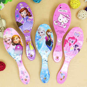 Disney Frozen Girls Comb Sofia Princess Minnie Little Pony Girls Cute Massage Comb Mickey Comb Disney Cartoon comb Toys gifts