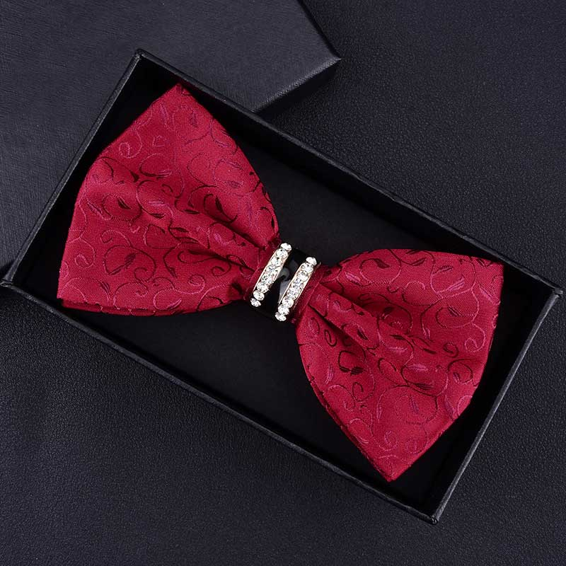 1Piece Bling Crystal Metal Decoration 16 Colour Bow Tie Butterfly Knot Men's Accessories Wedding Party Banquet Club Business