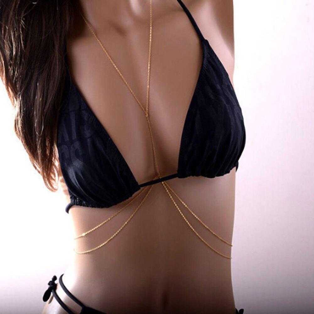 Ожерелье женское на талию, пикантная цепочка с блестящим перекрестным шлейфом, очаровательное пляжное бикини, Ювелирное Украшение на лето, ...