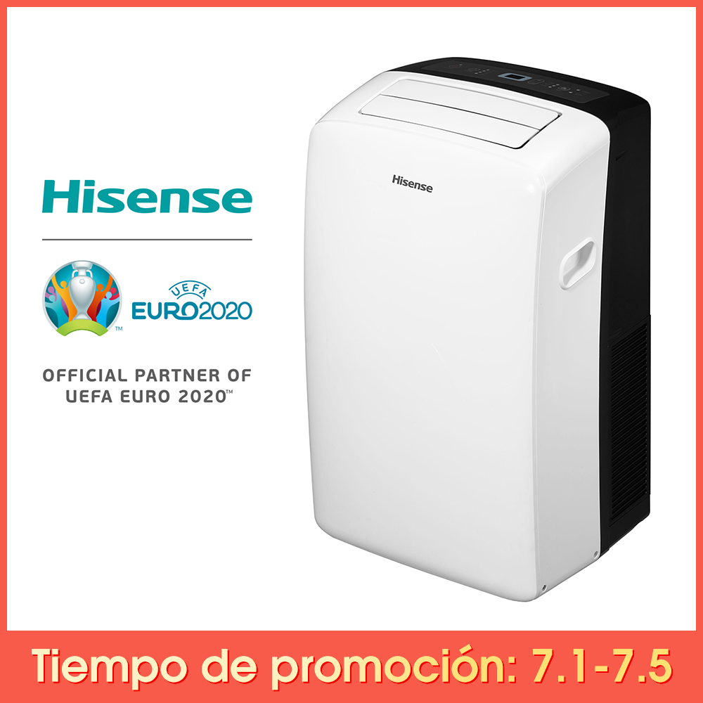 Hisense APH09 Air Conditioning, Portable, Multifunction, 9000BTU/h, Cooling Rápito, Heating Heat Pump