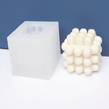 2021 3D Bubble Cube Soy Wax Candle Mold DIY Silicone Plaster Decoration Candles Mould Soy Aroma Wax Soap Mold Candle Crafts