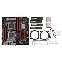 X79 çift CPU LGA2011 anakart Set çift Intel E5 2689 8-Ch 8x4GB 32G DDR3 ECC destek M.2 NVMe SATA3 USB3.0