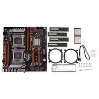 X79 Dual CPU LGA2011 Motherboard Set mit Dual Intel E5 2689 8-Ch 8x4GB 32G DDR3 ECC unterstützung M.2 NVMe SATA3 USB3.0