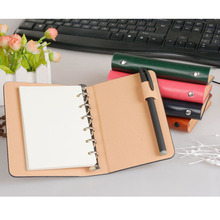 A7 PU 6-Ring Colorful  Notepad Mini Pocket Loose-Weaf Notebook with 50 Inner Page Memo Pads To Carry With You