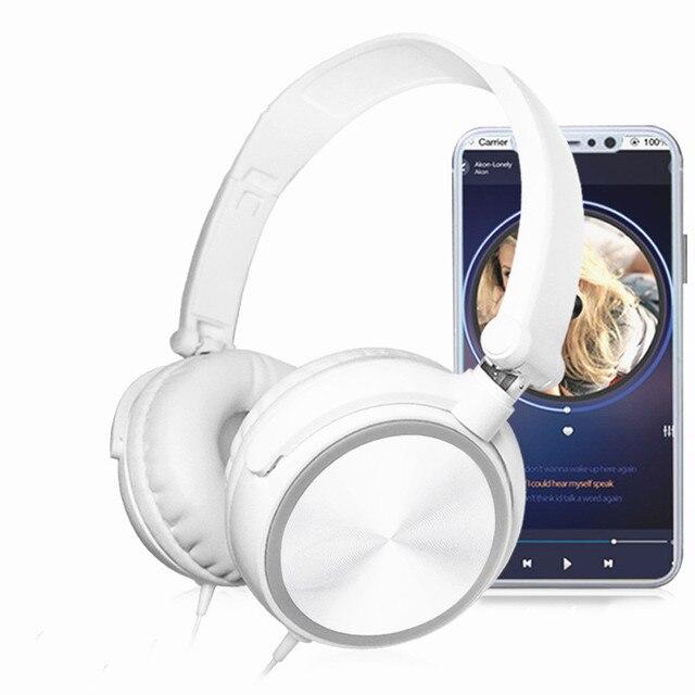 新しいステレオ低音ヘッドフォンとマイクをキャンセルする低音サウンドハイファイ音楽イヤホンソニーiphone xiaomi pc