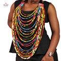 2020 Горячая Продажа африканские Анкары ручной работы Многослойные веревочные ожерелья для женщин в африканском стиле эффектное ожерелье дл...