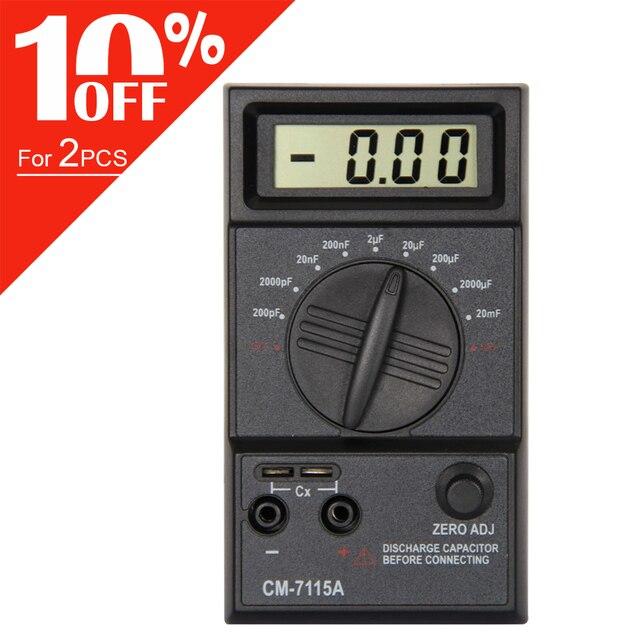 CM7115A pratique condensateur mètre numérique multimètre LCD affichage outil de mesure avec intégration à double pente système de convertisseur A/D