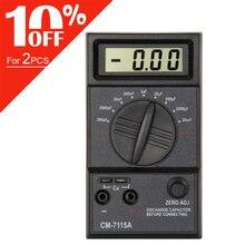 Medidor de condensador CM7115A, multímetro Digital, pantalla LCD, herramienta de medición con integración de doble pendiente, sistema convertidor A/D