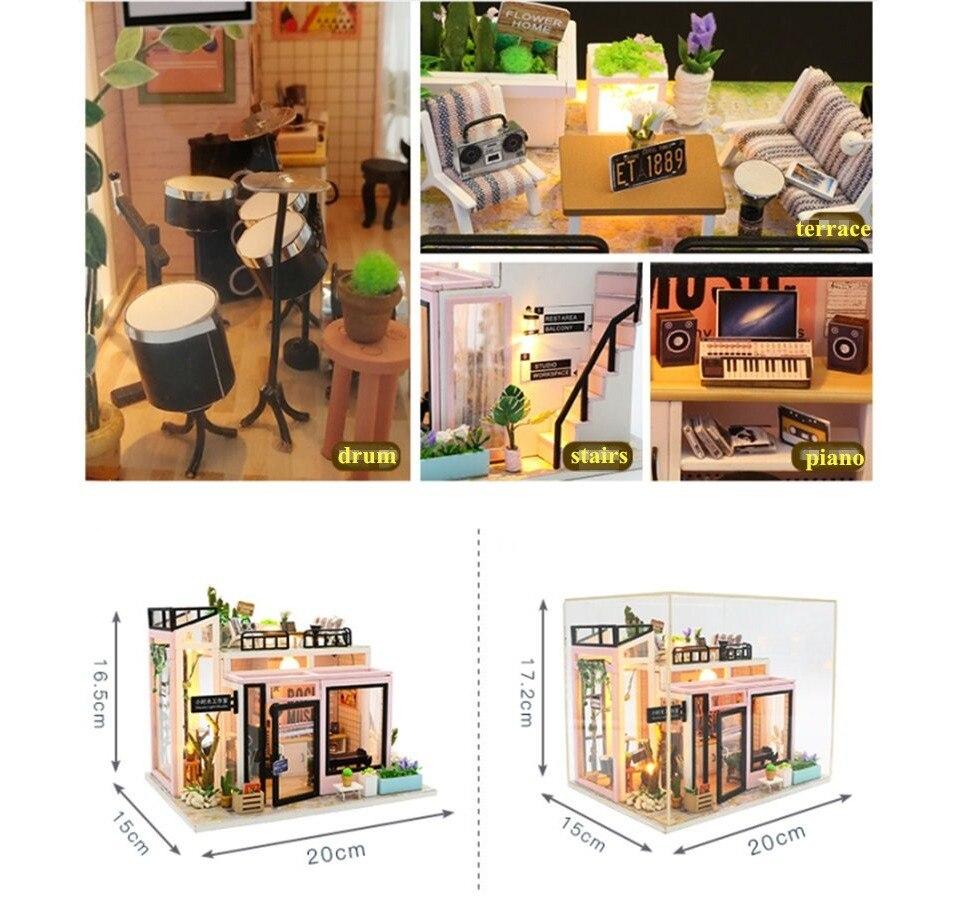 Hcc48b559c74740199fa4fa6875d7acadk - Robotime - DIY Models, DIY Miniature Houses, 3d Wooden Puzzle