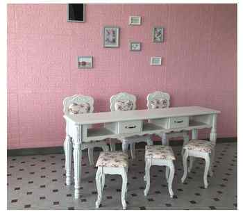 Lacquer manicure table manicure table single double three person manicure shop table European manicure table chair cover