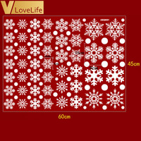 Christmas Snowflake Window Stickers 48 Pcs Set
