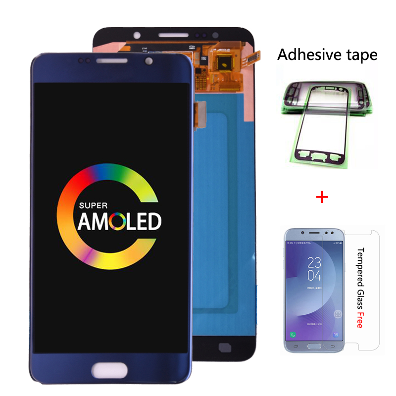 Super Amoled Für Samsung Galaxy <font><b>Note</b></font> <font><b>5</b></font> Note5 N920A N9200 SM-N920 N920C <font><b>LCD</b></font> Display Touchscreen Digitizer Montage kostenloser versand image
