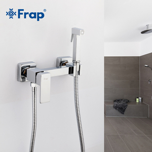 Frap 6 styles Brass Single Cold & Cold hot Water Corner Valve Bidet faucets Function square Hand Shower Head Tap Crane for woman(China)