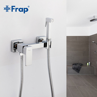 Frap 6 styles Brass Single Cold & Cold hot Water Corner Valve Bidet faucets Function square Hand Shower Head Tap Crane for woman