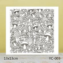 ZhuoAng Mushroom background Transparent seal / sealed DIY scrapbook album decoration card seamless