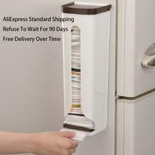 ATUCOHO Store nowy przenośny Organizer do kuchni przechowywanie w domu stojaki plastikowy pojemnik do przevhowywania Box Wall Hanging łazienka worki na śmieci stojaki