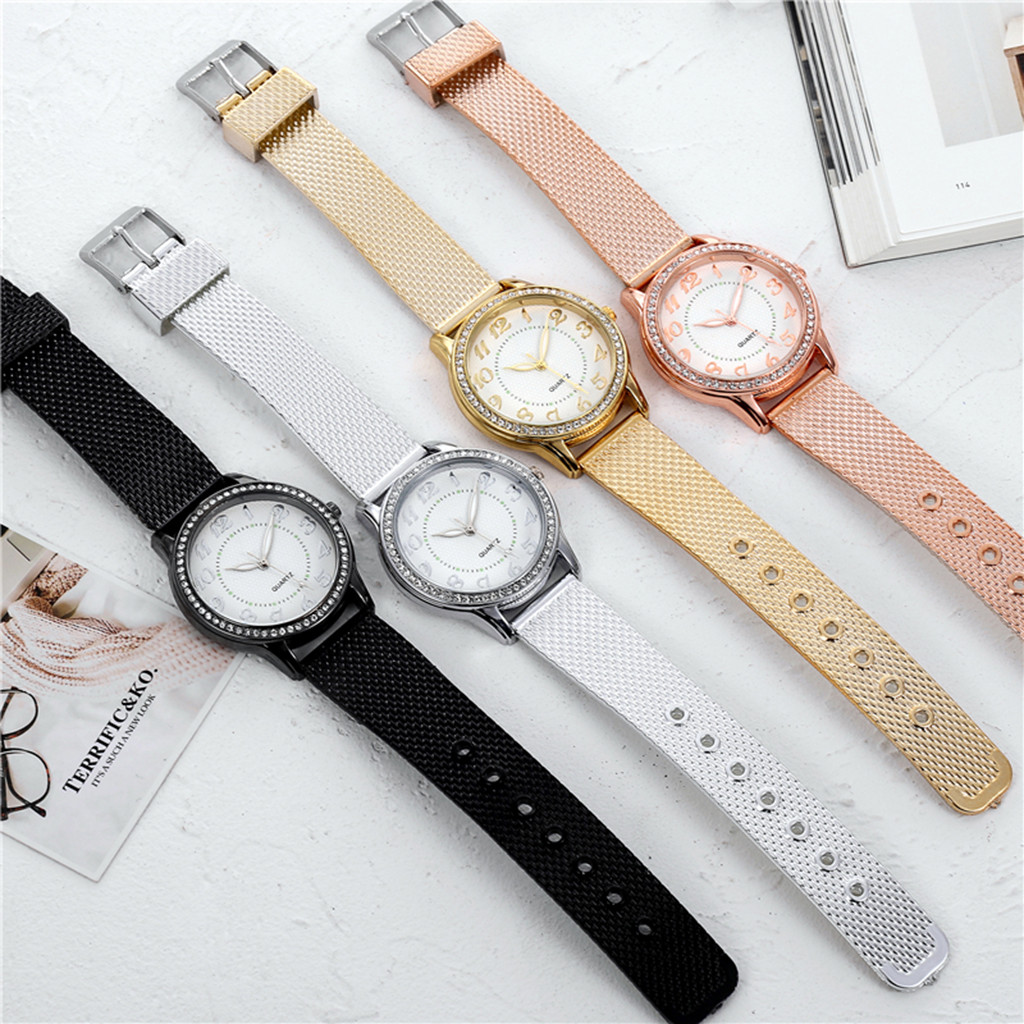 Relogio Feminino Luxury diamond Watches Quartz Watch Stainless Steel Dial Casual Ladies Watch Women Wristwatch Zegarek Damski W3 2