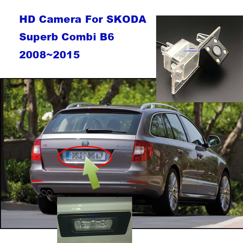 Yessun License Plate Camera For SKODA Superb Combi B6 2008~2015 Car Rear View Camera Parking Assistance