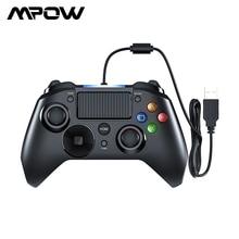 Mpow 유선 게임 패드 게임 LED 라이트 게임 패드 컨트롤러 USB 게임 패드와 트리거 PS4/PS3/Win/Android TV 용 bottons 게임 패드