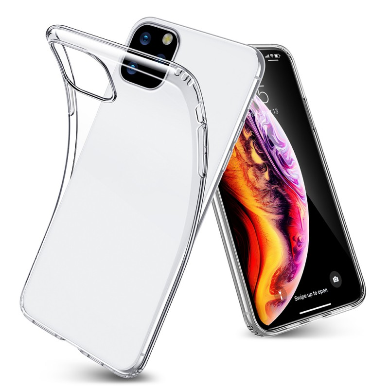For IPhone 11 Pro Max Case Slim Soft TPU Clear Silicone Shoc Memory Card