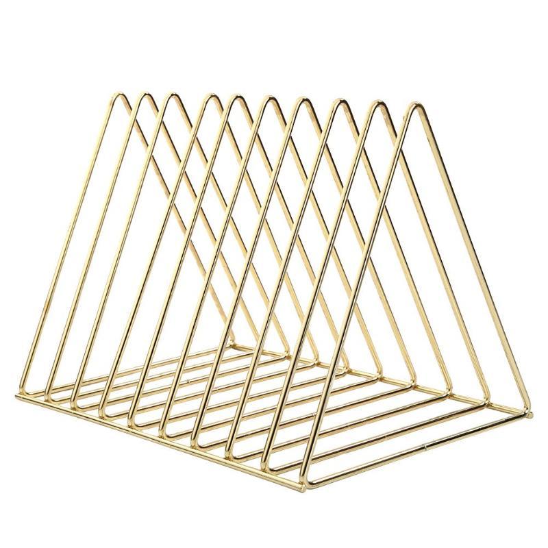 Металлический стеллаж для хранения арт книжная полка в скандинавском стиле железная треугольная полка для ванной комнаты стойки для гостиной настольный держатель для книг Декор