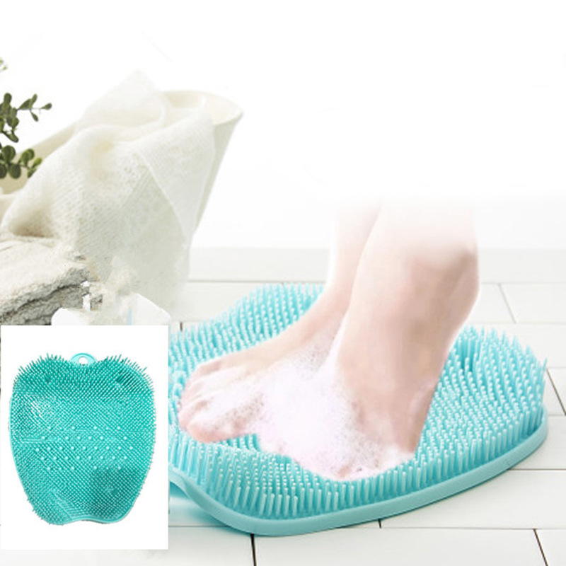 Silica Gel Bath Shower Feet Massage Slippers Shoes Brush Pumice Stone Foot Scrubber Spa Footbrush