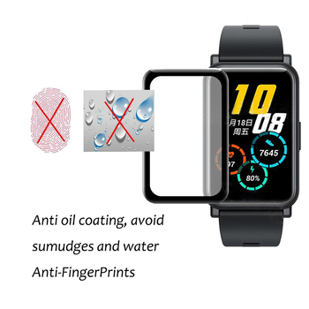 3D Curved Full Edge Smart Watch Soft Protective Film Cover For Huawei Watch Fit / Honor Watch ES Screen Protector Case image