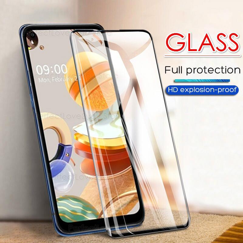 9H Full Cover Tempered Glass For LG K61 K51S K41S K50S K40S Screen Protector Film Front Cover For LG Q70 Airsto4 K50 K40 V50 V40