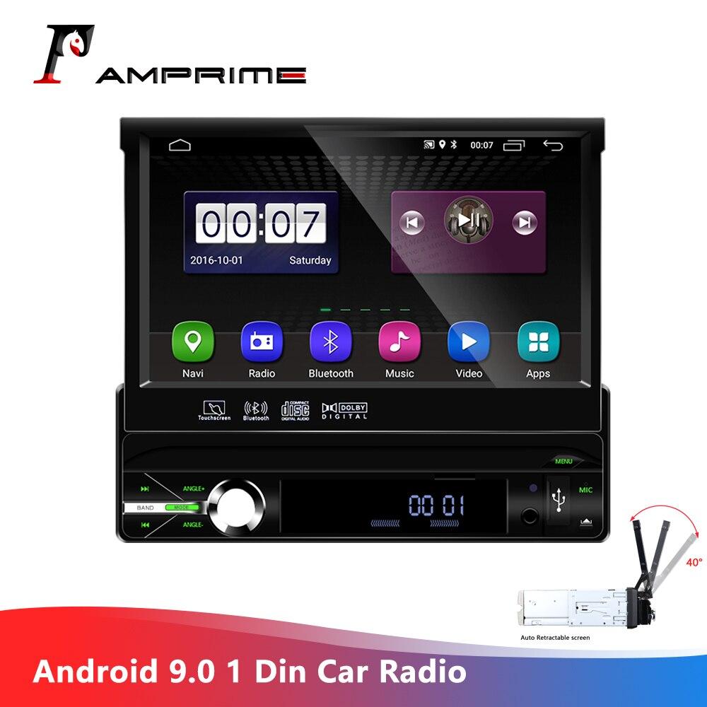 AMPrime Android 9,0 wifi Автомобильный мультимедийный плеер авторадио 1Din автомобильный Радио Универсальный Съемный опалубка Автомобильный плеер gps FM...
