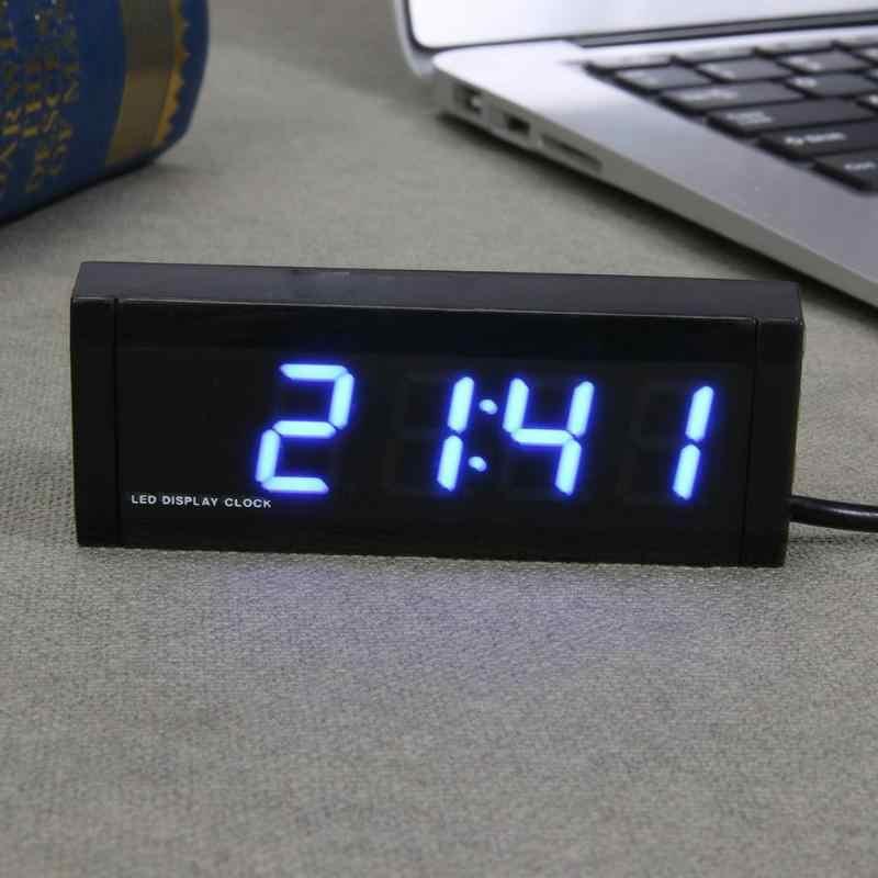 Thermomètre intérieur voiture universel horloge voltmètre affichage numérique calendrier