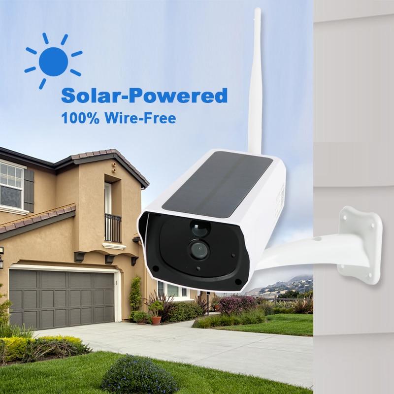 Solar Camera Wireless Outdoor Wifi Solar Panel CCTV 1080P HD Security IP Surveillance Camera PIR IP66 WaterProof Garden Garage