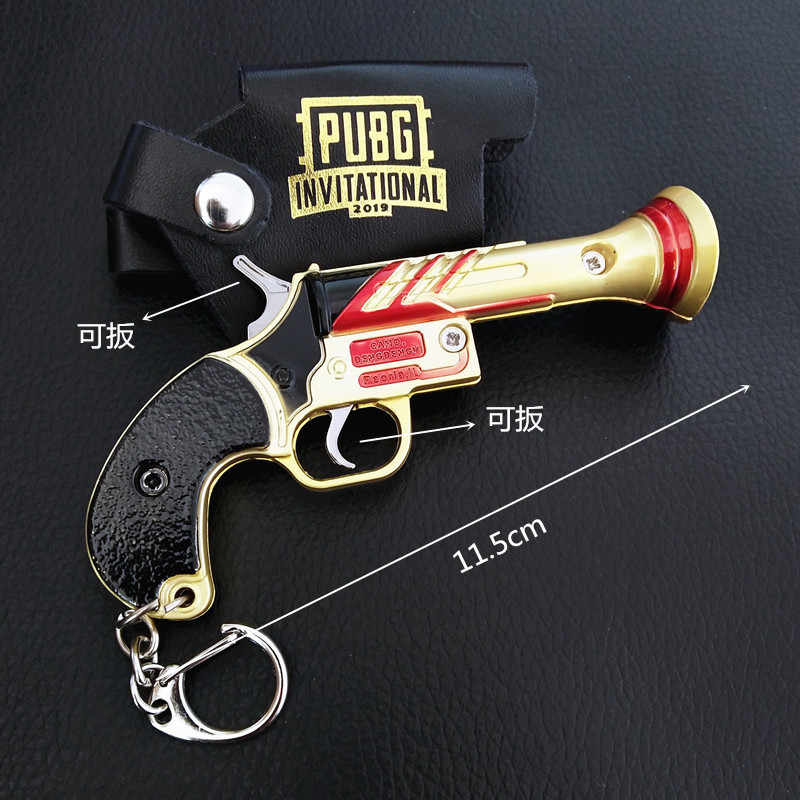 Oyun PUBG silah silah modeli anahtarlık 98K AWM VSS anahtarlık alaşım anahtar zincirleri Cosplay takı boyutu jedi yemek tavuk 2020 anahtarlık