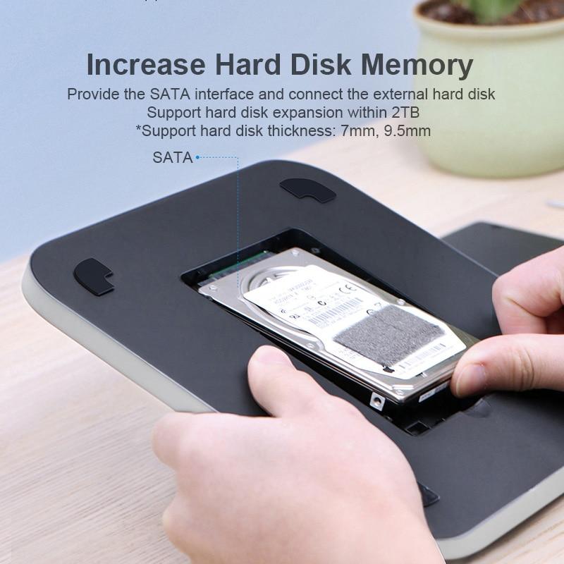 Hagibis USB-C Hub for Mac mini M1 with SATA Hard Drive Enclosure Type-C SSD Case docking station sliver for 2020 New Mac mini-1