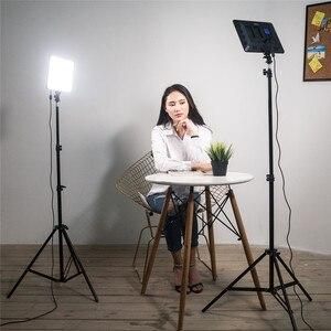 "Image 5 - VILROX 3pcs VL 200T Bi color Dimmable Wireless remote LED Video Light Panel Lighting Kit+75"" Light Stand for studio shooting"