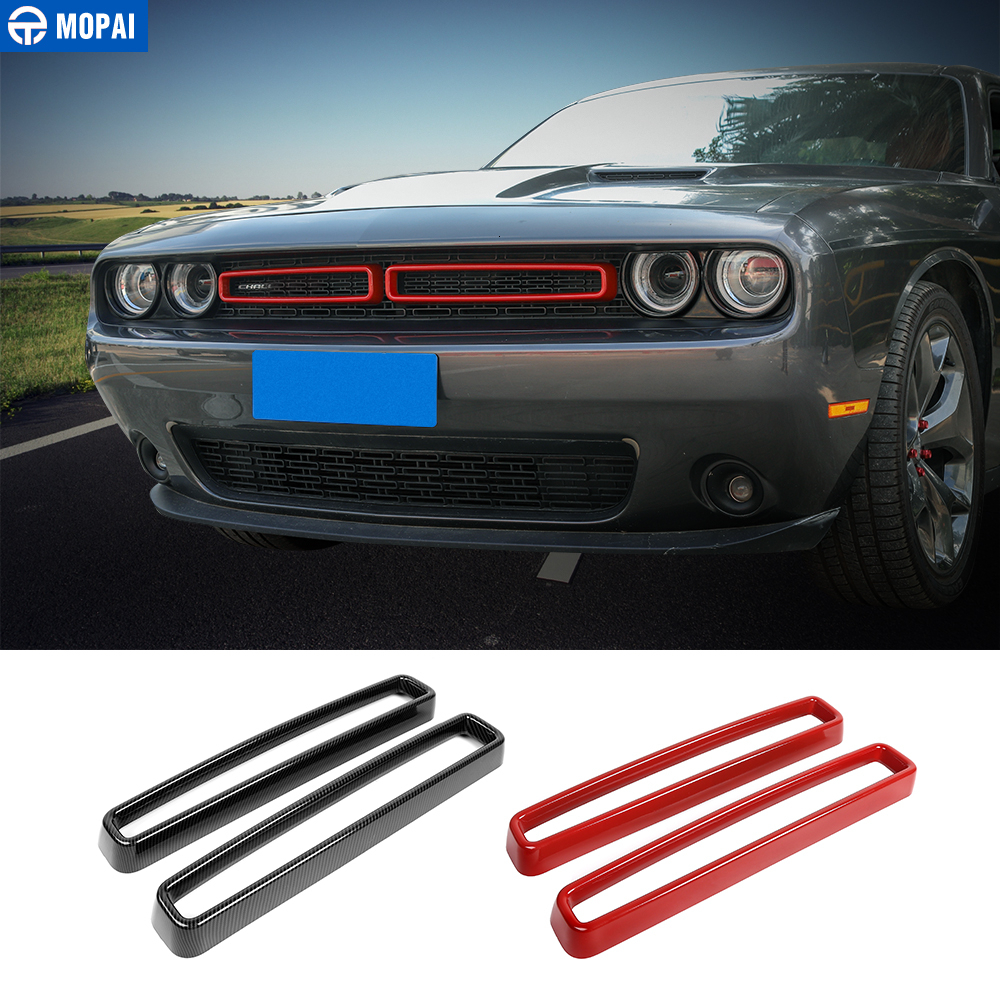 MOPAI Car Stickers for Dodge Challenger 2015+ Car Grille Air conditioning Vent Decoration Cover for Dodge Challenger 2015+