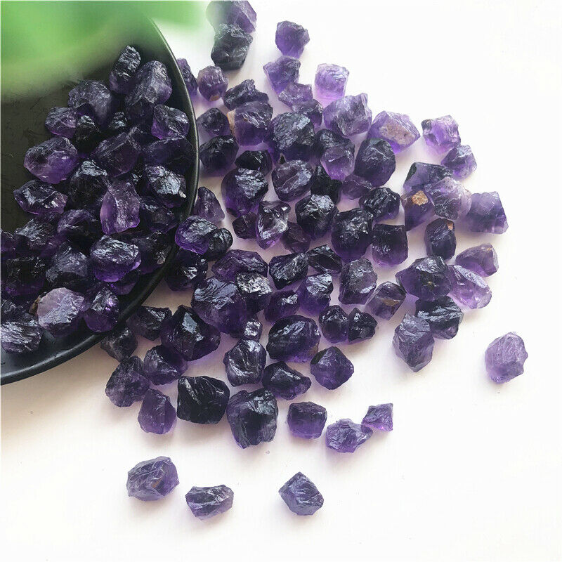 Dropshipping Natural Amethyst Crystal Quartz Semi-precious Stone Unpolished Raw Minerals Natural Quartz Crystals 9-15mm