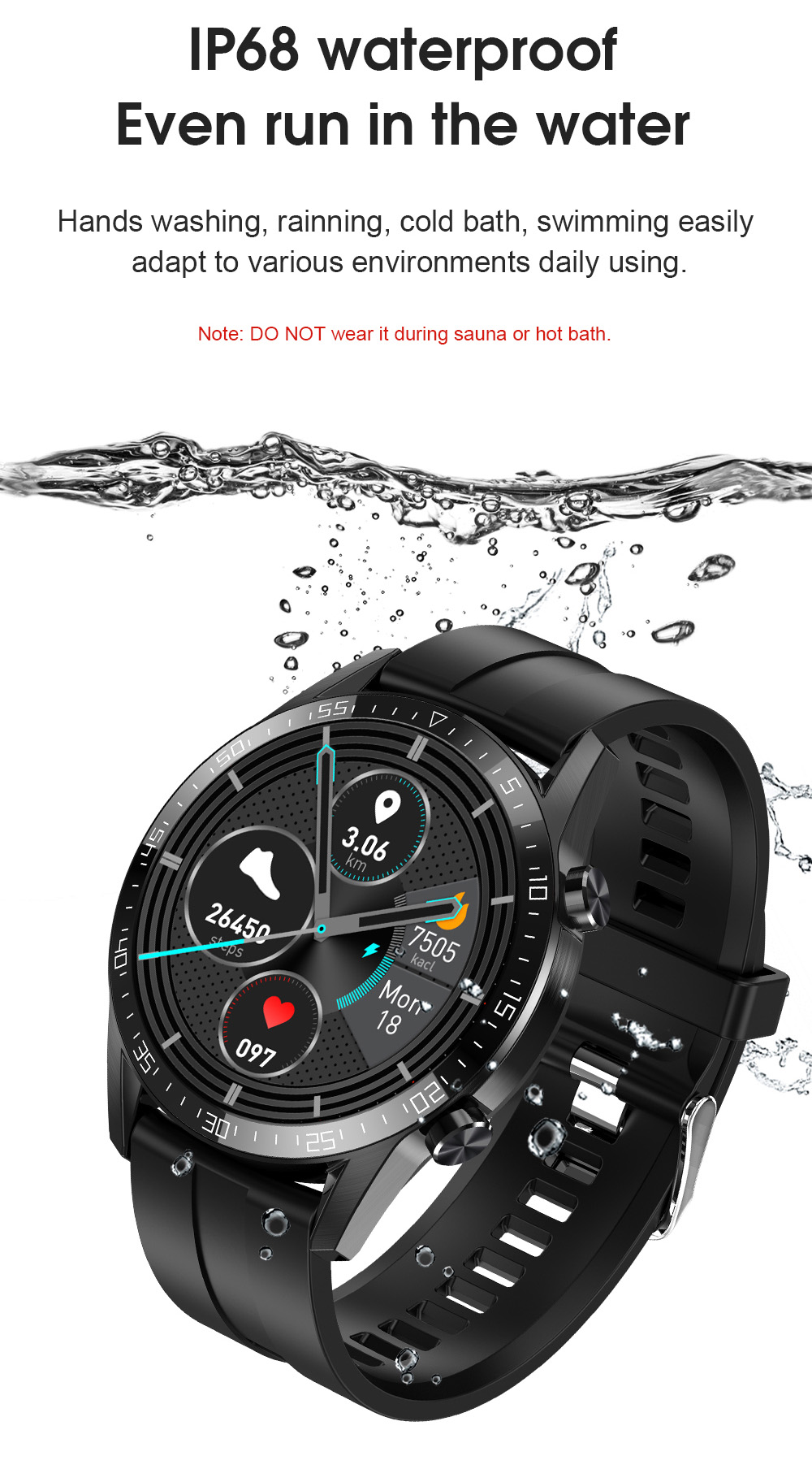 Hcc49d75faca94e83ae5e5c3804709054d Timewolf IP68 Smart Watch Men Android 2020 Full Touch Smartwatch Men Women Smart Watch For Huawei Xiaomi Apple IOS Android Phone