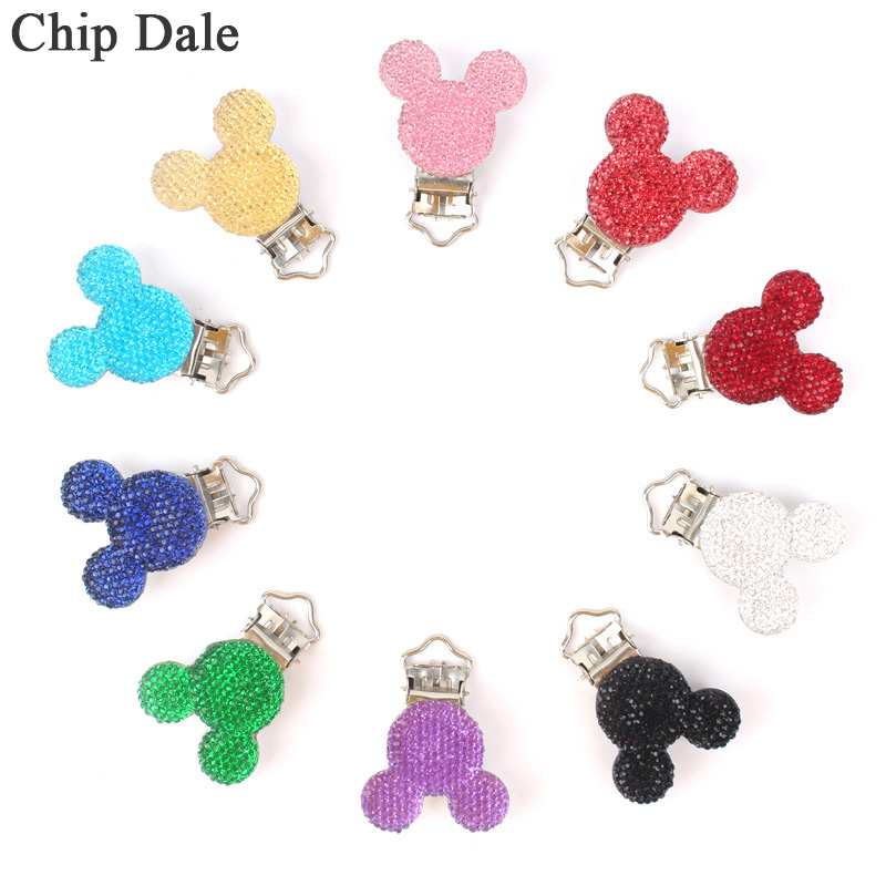 1/5pc Mickey Shape Pacifier Clip Infant Baby Pacifier Holder Metal Dummy Clips For DIY Chains
