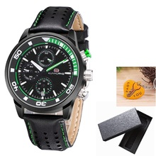 Quartz Watches Men KUNHUANG KH1009 Watches Mens 2020 Date Luminous Chronograph Military Watches Sports Wristwatch Men in Box cheap NoEnName_Null 22cm 3Bar Buckle Alloy 10mm Hardlex Quartz Wristwatches Paper Leather 43mm 20mm ROUND Shock Resistant Auto Date