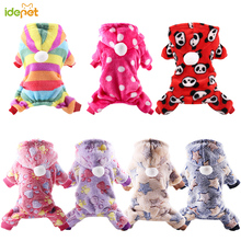 Dog Pajamas Fleece Jumpsuit Winter Dog Clothing